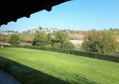 ristorante con vista panoramica nel monferrato
