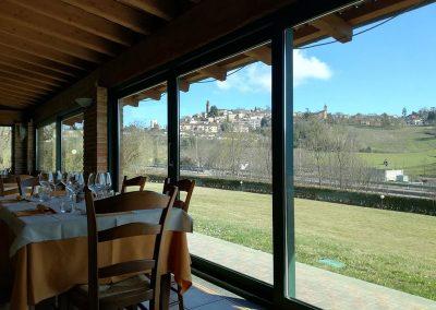 ristorante con vista colline nel monferrato